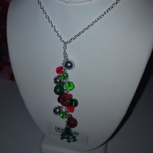 Christmas 35 in necklace earring set wit